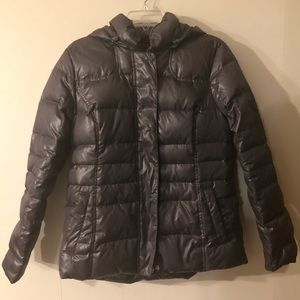 Beautiful Tommy Hilfiger Gray Hooded Puffer (L)